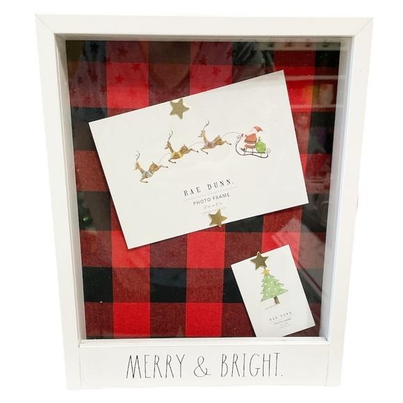 NEW Rae Dunn MERRY & BRIGHT Wooden Shadow Box Frame 🎄🎄